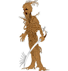 Tree warrior vector