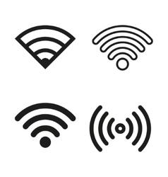 Wi-Fi icon set vector image