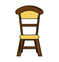 Wooden chair vintage design vector