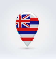 Hawaiian icon point for map vector