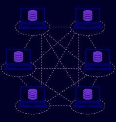 Distributed database blockchain vector