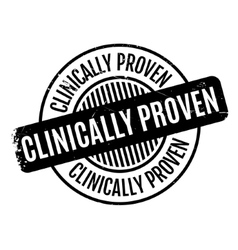 Clinically proven rubber stamp vector