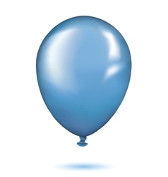 Realistic blue balloon vector