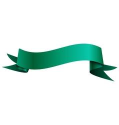 Realistic shiny aqua ribbon isolated on white vector image