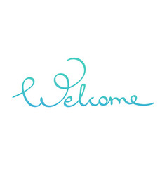 Hand drawn lettering word welcome vector