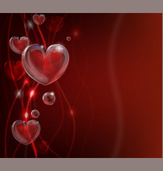 abstract valentines day heart background vector image