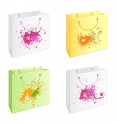 bags with camomiles vector image