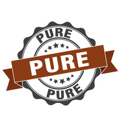Pure stamp sign seal vector