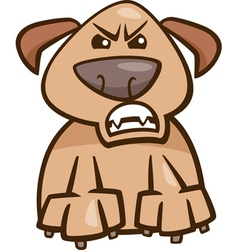 mood furious dog cartoon vector image