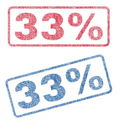 33 percent textile stamps vector