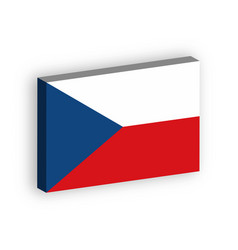3d flag of czech republic vector