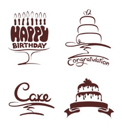 Set of design elements - cakes vector