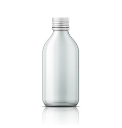 Glass medical bottle with screw cap vector
