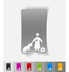 Realistic design element veterinarian and dog vector
