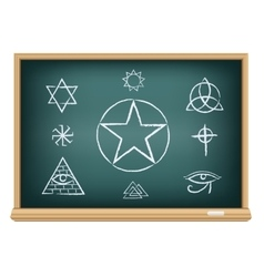 board magic symbol vector image