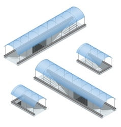 Isometric pedestrian subway under the highway vector