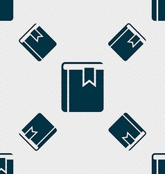 Book bookmark icon sign seamless pattern with vector