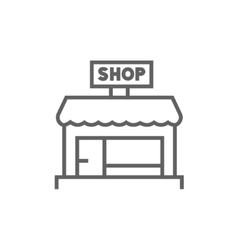 Shop store line icon vector image