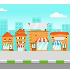 Strip mall vector