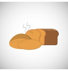 Bread icon design vector