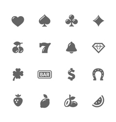 Simple slot machine icons vector