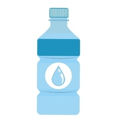Water bottle beverage drink design vector