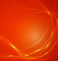 Abstract lines on orange background vector