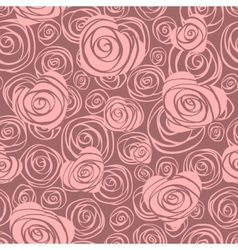 Abstract seamless pattern with hearts and roses vector image vector image