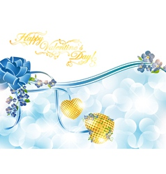 abstract valentines day frame vector image