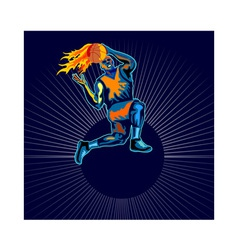 Basketball Player Jumping vector image vector image