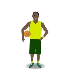 Basketball-player with ball vector image vector image
