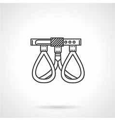 Black line icon for climbing belt vector