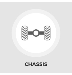 Chassis car icon flat vector