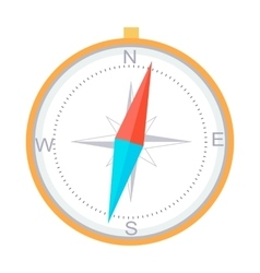 Compass instrument isolated navigation orientation vector