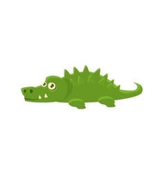 Crocodile toy exotic animal drawing vector