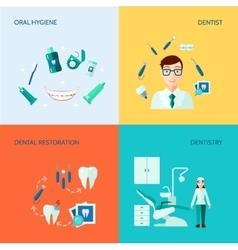 Dental decorative icon set vector