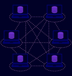 Distributed database blockchain vector