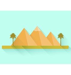 Egyptian pyramids vector image vector image