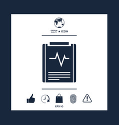 Electrocardiogram symbol vector