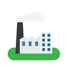 factory building icon vector image vector image