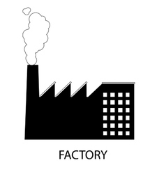 Factory icon or sign vector image vector image