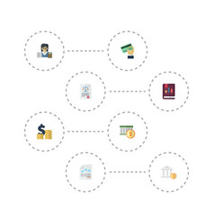 flat icons act deadline paper and other vector image