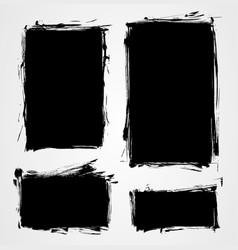grunge elements set vector image vector image