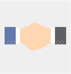 handshake flat black vector image