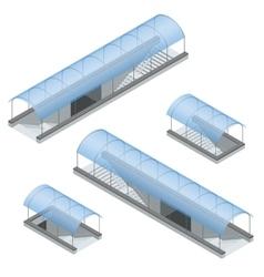 Isometric pedestrian subway under the highway vector