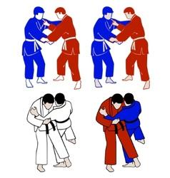 Judokas vector
