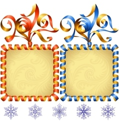 New Year 2017 square frame set vector image vector image