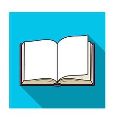 opened book icon in flat style isolated on white vector image vector image