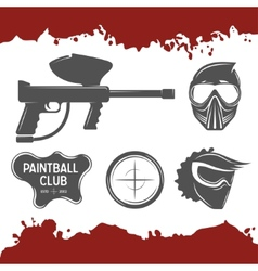 Paintball design elements vector image