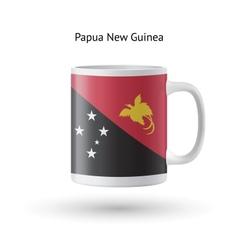 Papua new guinea flag souvenir mug on white vector